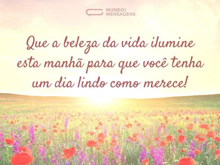 Beleza Da Vida Bom Dia: Um Dia Iluminado E Belo