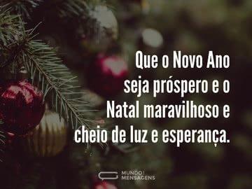 Um Natal de Luz e um Ano Novo Próspero