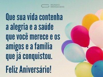 Feliz Aniversário com Alegria e Saúde