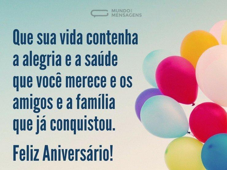 Mensagem de Aniversário balões