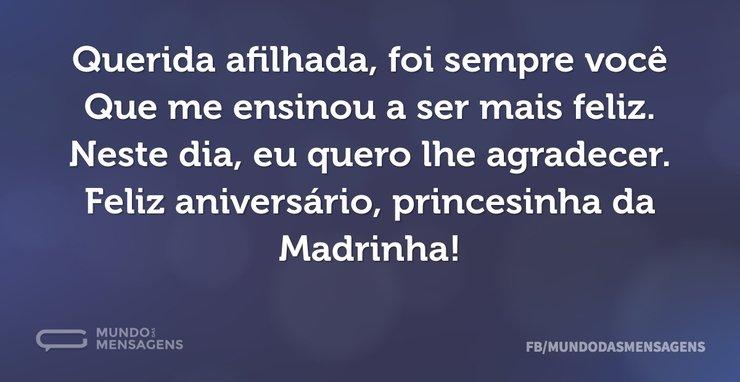 Afilhada Querida Parabéns: A Princesinha Da Madrinha Está De Parabéns