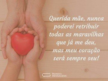 Meu coração é seu, mãe