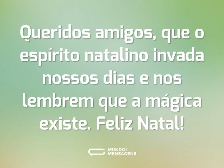 Queridos amigos, que o espírito natalino invada nossos dias e nos lembrem que a mágica existe. Feliz Natal!