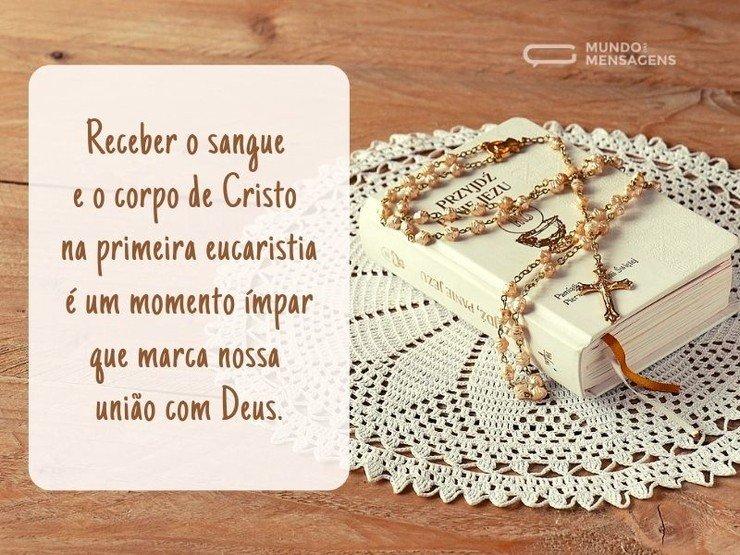 O Momento ímpar Da Primeira Eucaristia Mundo Das Mensagens