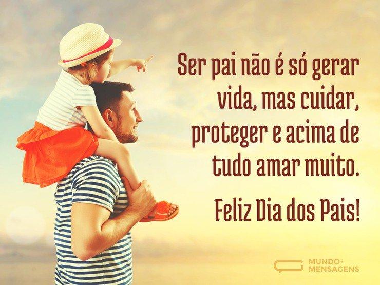Mensagem Para Os Pais: Pai Significa Amar Muito