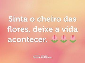 Sinta o cheiro das flores, deixe a vida acontecer. 🌷🌷🌷