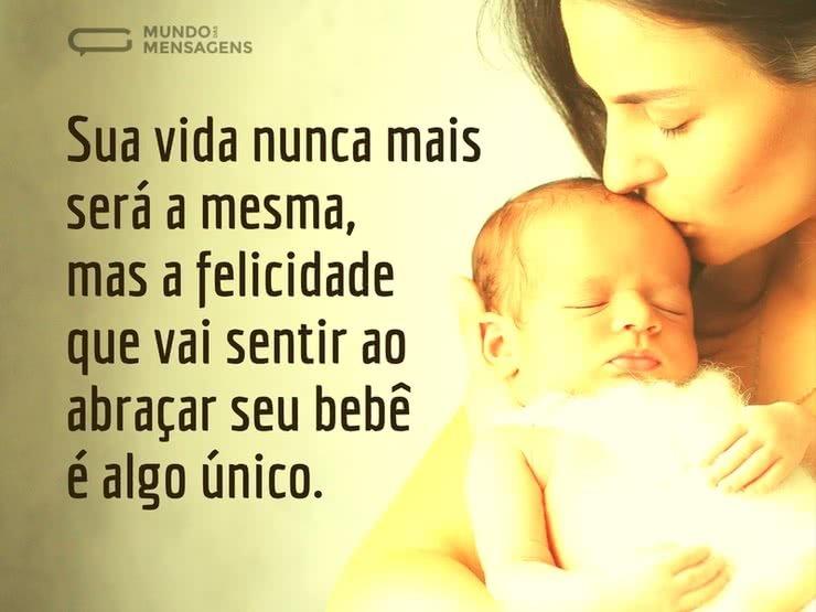 A Felicidade única Da Chegada De Um Bebê Mundo Das Mensagens