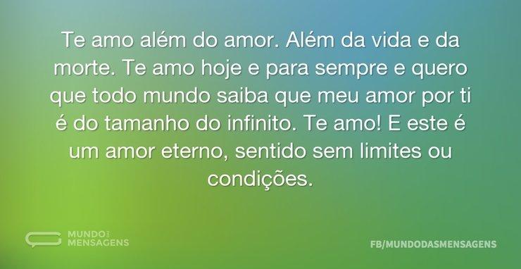 Te Amo Além Do Amor Depoimento Mundo Das Mensagens