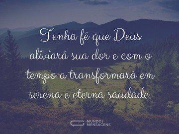 Deus aliviará sua dor