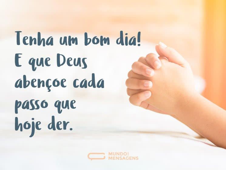 Que Deus abençoe seus passos hoje