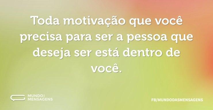 Toda motivação que você precisa para ser...