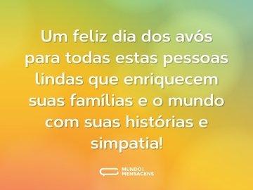 Um feliz dia dos avós para todas estas pessoas lindas que enriquecem suas famílias e o mundo com suas histórias e simpatia!