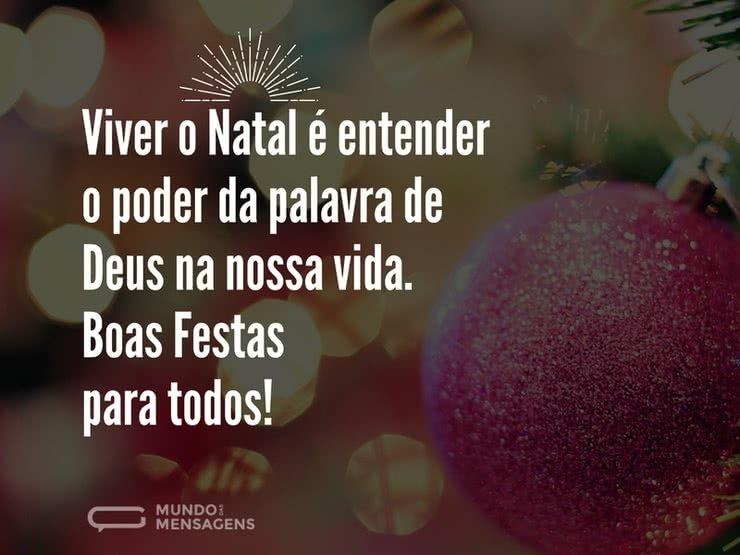 A Palavra De Deus E O Natal